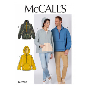 Jacke für Sie und Ihn, McCalls 7986
