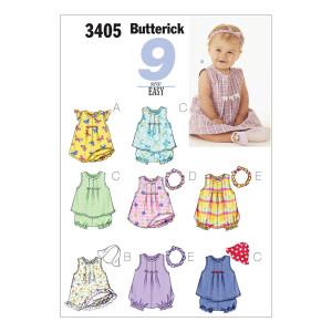 Kleid/Top/Strampler/Höschen, Butterick 3405