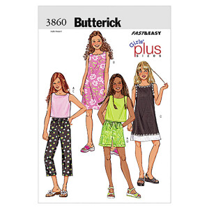 Top/Kleid/Shorts/Hose, Butterick 3860