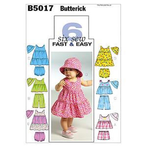Top/Kleid/Höschen/Shorts/Hose/Hut, Butterick 5017...