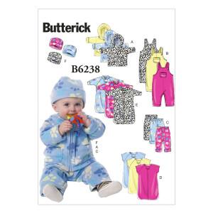 Kleid Baby Jacke Overall Hose Hut, Butterick 6238 Gr....