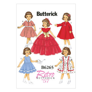 Puppenkleidung Retro, Butterick 6265 Gr. Alle...