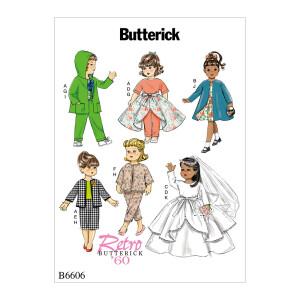 Puppenkleidung, Butterick 6606 Gr. Alle Größen