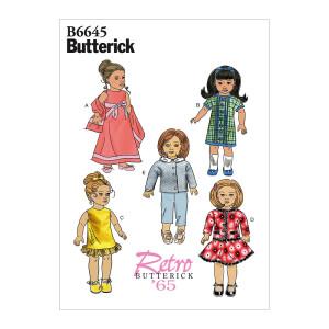 Puppenkleidung, Butterick 6645 Gr. Alle Größen