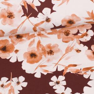 Jersey Vintage Flower, mahagoni