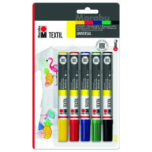 Textilmalstifte 2-4mm, bunt