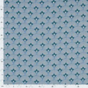 Dekostoff Emil Ornamente, blau