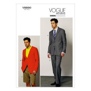 Jacke/kurze Hose/Anzug, Vogue 8890