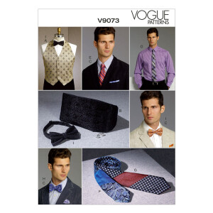 Weste/Kummerbund/Stecktuch/Krawatte, Vogue 9073 Gr. Alle...