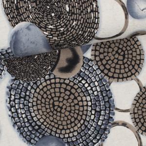 Viskosejersey Rings, sand meliert/pastellbraun