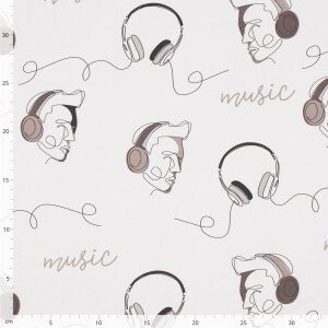 French Terry Music, naturweiß