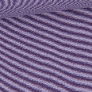 Ringelbündchen 1mm, lila/flieder