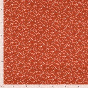 Baumwolle Crazy Lines, rostrot/weiß