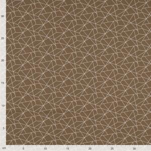 Baumwolle Crazy Lines, braun/weiß