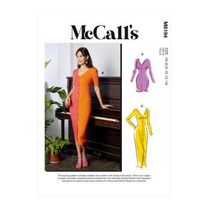 Kleid mit Knopfleiste, McCalls 8194