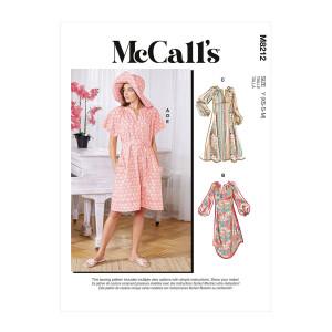 Kleid mit Gürtel, Hut und Mundschutz, McCalls 8212