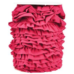 Jerseyvolant Rüsche 30mm, pink