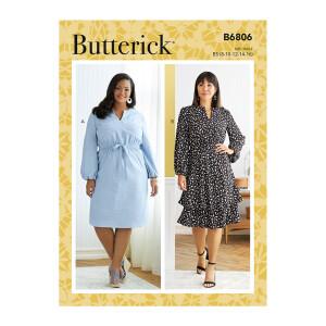 Langarm Damen Kleid, Butterick 6806