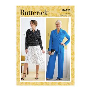 Damen Jacke, Hose Rock, Butterick 6820
