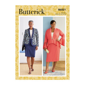 Damen Jacke, Rock, Butterick 6821