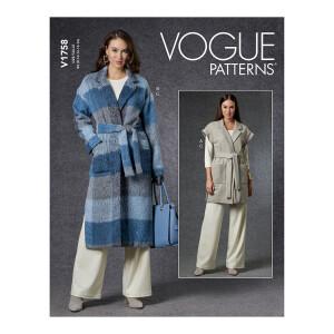 Mantel und Weste mit passender Hose, Vogue 1758