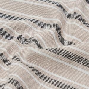 Leinen Baumwoll Twill Streifen, beige