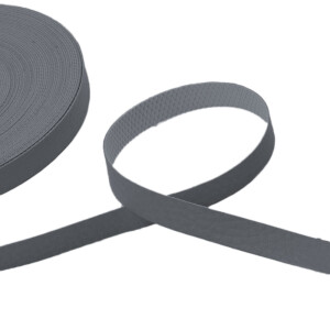 Kunstlederband 10 Meter, 10mm, grau
