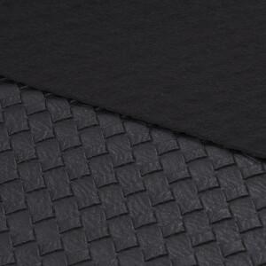 Kunstleder Korboptik 50x68 cm, schwarz