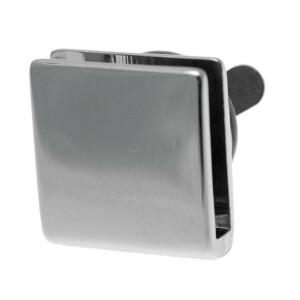 Taschenverschluss quadratisch, silber