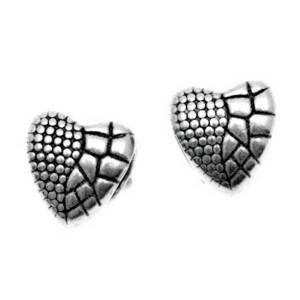 Charms Verschluss Herz mit Design, silber