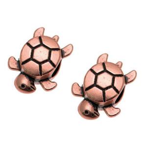Charms Verschluss Schildkröte, kupfer