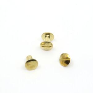 Buchschrauben 10 Paar 8mm, gold