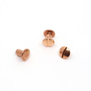 Buchschrauben 10 Paar 8mm, kupfer