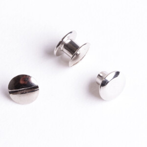 Buchschrauben 10 Paar 8mm, silber