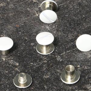 Buchschrauben 10 Paar 5mm, weiß