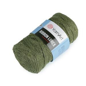 Yarn Art Ribbon Lurex, grün/gold