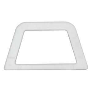Taschengriffe Trapez 2 Stück, transparent