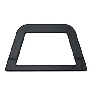 Taschengriffe Trapez 2 Stück, schwarz