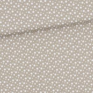 Baumwolle Sternchen, taupe/weiß