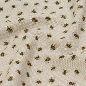 Dekostoff Emma kleine Bienen, natur