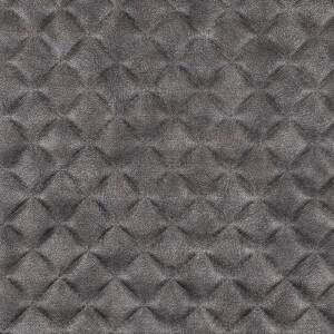 Kunstleder gesteppt 50x68 cm, grau metallic