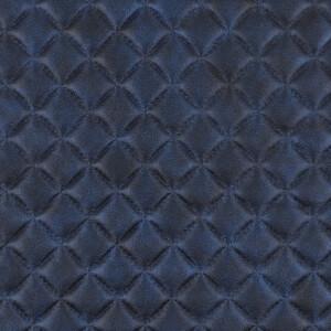 Kunstleder gesteppt 50x68 cm, blau metallic