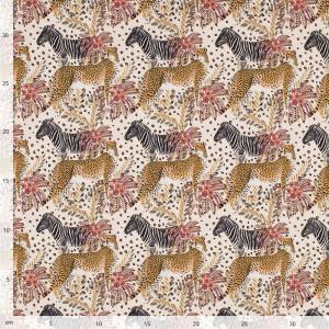 Jersey Gepard und Zebra, beige