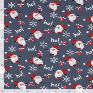 Sweat Weihnachtsmann, grau/weiß/rot