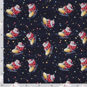 Jersey Lustiger Weihnachtsmann, dunkelblau