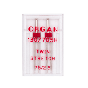 ORGAN Zwillingsnadeln Stretch 75, 2 Stück