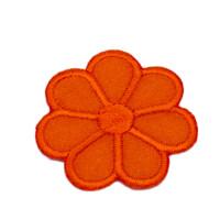 Patch Blume orange, 3 x 3 cm
