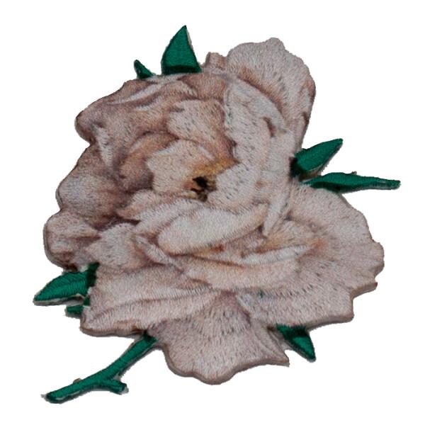 Patch Blume/Rose beige, 5,5 x 7 cm