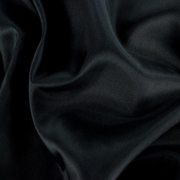 Acetat Futterstoff, schwarz