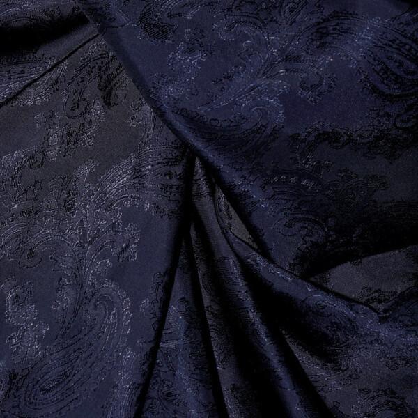 Paisley Futterstoff, dunkelblau